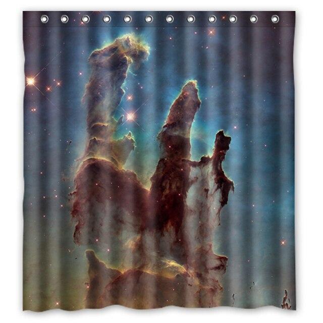 Universe Space Planet Stars Custom Unique Curtain Fabric Bath Bathroom  Waterproof Shower Curtain Size 48x72,