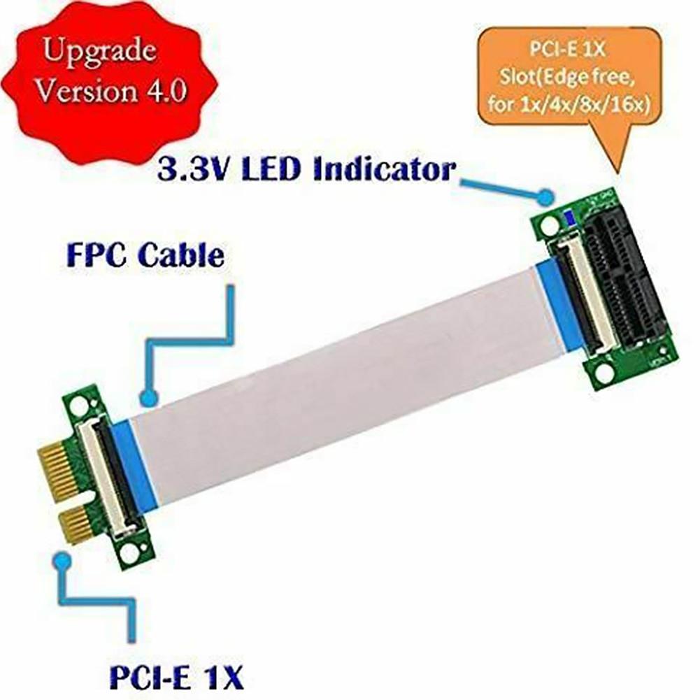 Adattatore Extender Cavo 36pin A Più Corsie Flessibile Piatto Riser Card Pci Express Componenti Professionali Test Di Debug Pratico