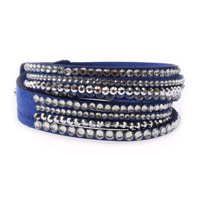 f1cb17f00 Crystals From Swarovski Jewelry Slake Stars Multilayer Bracelets Genuine  Leather Bangles Gift For Women Bracelets Pulseras