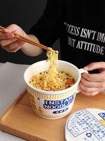 Ceramic Bowl with Cover Ramen Noodles Noodle Ceramic Bowl Porcelain Rice Ramen Ceramics Soup Large Bowl Under Glazed