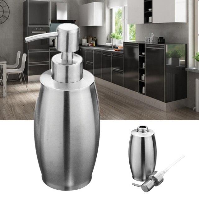 Genial Hohe Qualität Küche Waschbecken Hand Flüssigwaschmittel Lotion Flasche  Container Edelstahl Badezimmer Seifenspender 375 Ml