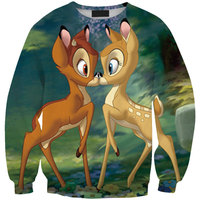 Sudaderas Mujer Tracksuits Printing Popular Apparel Fashion Hoody For Men Women 3D Sweatshirt Cute Animals Deer