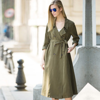 Veri Gude 2015 New Arrival Women S X Long Trench Coat Micro Fiber Material Thin Coat