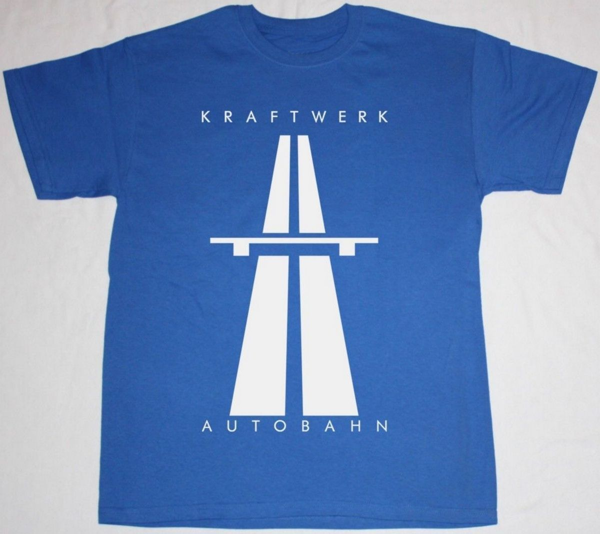 KRAFTWERK AUTOBAHN KRAUTROCK ELECTRONIC SYNTHROCK NEW ROYAL BLUE T-SHIRT New Fashion T Shirt Graphic Letter