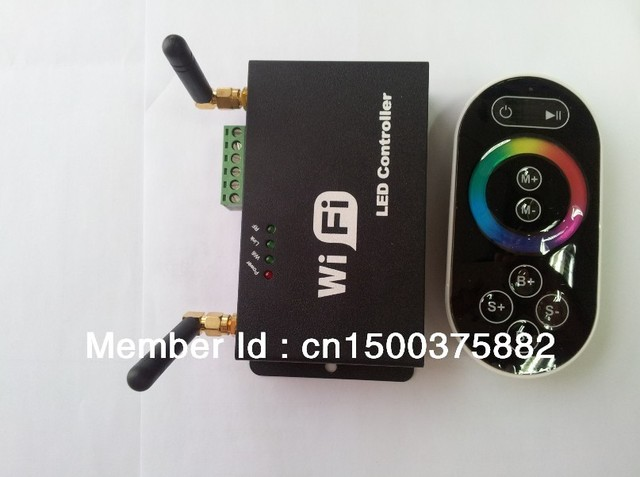 WIFI single point constant voltage led controller can be control by  Iphone,Ipad and Andriod,DC5-24V,4A*3