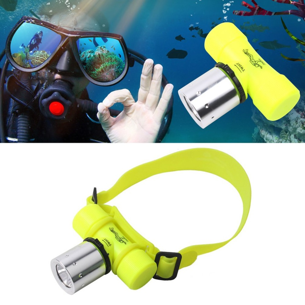 LESHP Swimming Diving Headlight Waterproof Underwater Super Bright T6 LED Flashlight Rechargeable Torch Lamp For Camping Hiking super bright led chargeable flashlight for night fishing camping hiking electric torch with lcd screen build in battery