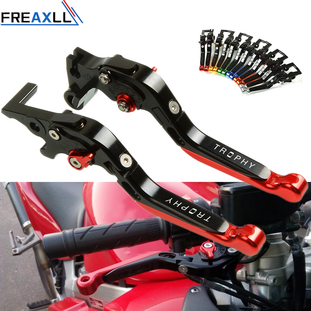 For TRIUMPH TRophy 2013 2014 2015 Adjustable Foldable Brake Clutch Levers Motorbike Levers Aluminum High Quality CNC Motorcycle in Levers Ropes Cables from Automobiles Motorcycles