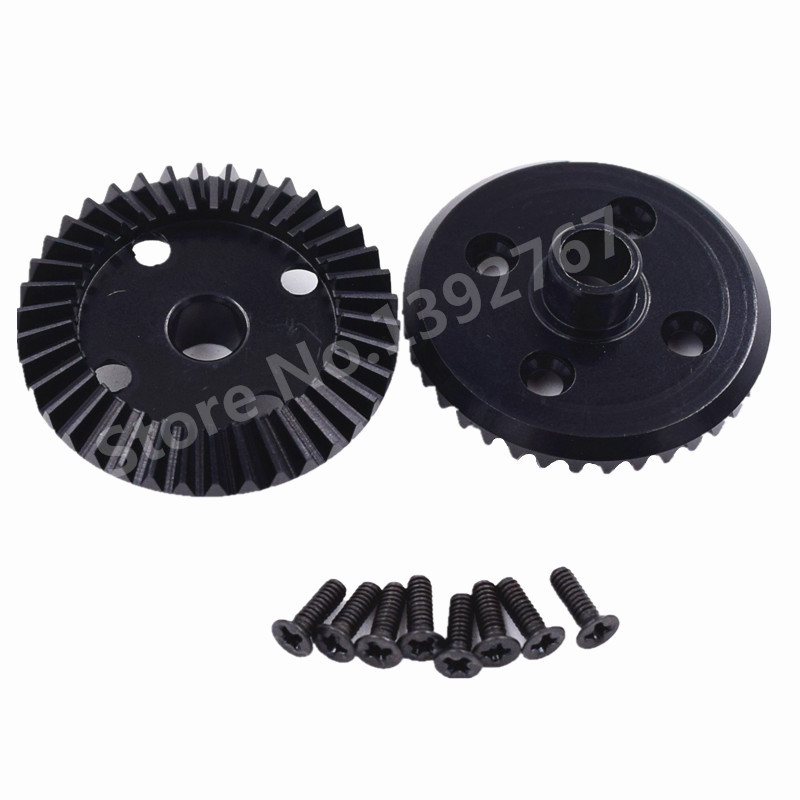 2 Pieces RC Car Wltoys A949 A959 A969 A979 k929 Upgrade Parts Aluminum Alloy Differential Driven Gear 38T For 1/18 Scale Models