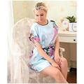 Nueva Llegada Del Bebé Azul Del Pavo Real de Las Mujeres Chinas de Seda Rayón robe pijamas Albornoz Bata de Un Tamaño de La Flor Envío Gratis