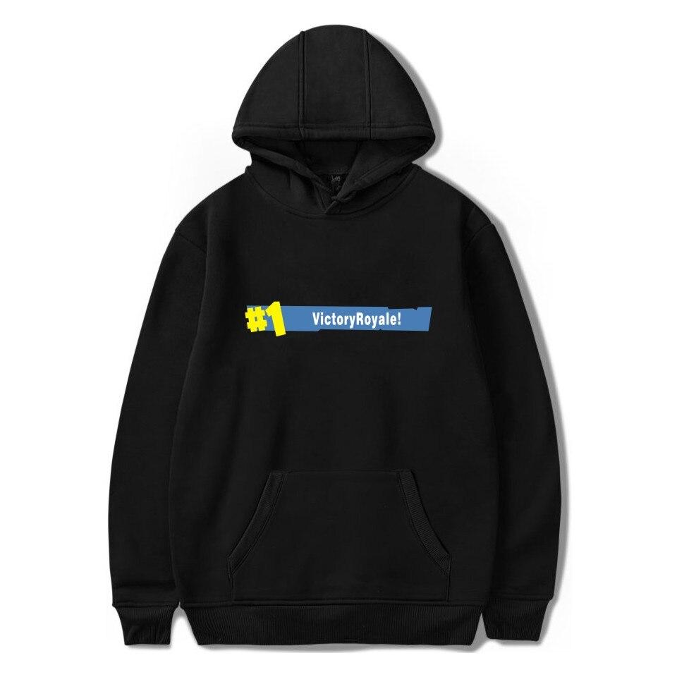 Fortnite Толстовки Повседневное с длинным рукавом Толстовки уличной хип-хоп мужской пуловер зимние Утепленная одежда с капюшоном fortnite