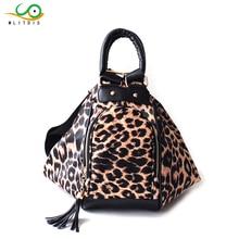 MLITDIS Leopard Women Rucksack Double Zipper Tote Womens Shoulder Bag Ladies Messenger Bags Vintage Crossbody Hobos