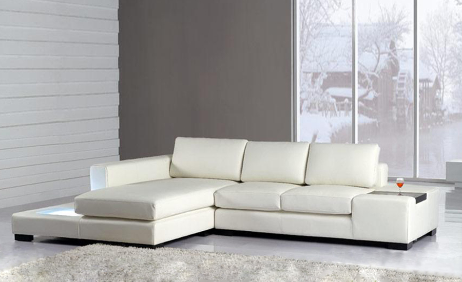 White Leather Sofa Bed. Free Shipping Modern L Shaped Simple White Black  Cattle Leather Corner