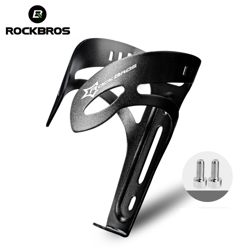 RockBros Bike Water Bottle Cage Aluminium Alloy Bicycle Bottle Holder Black