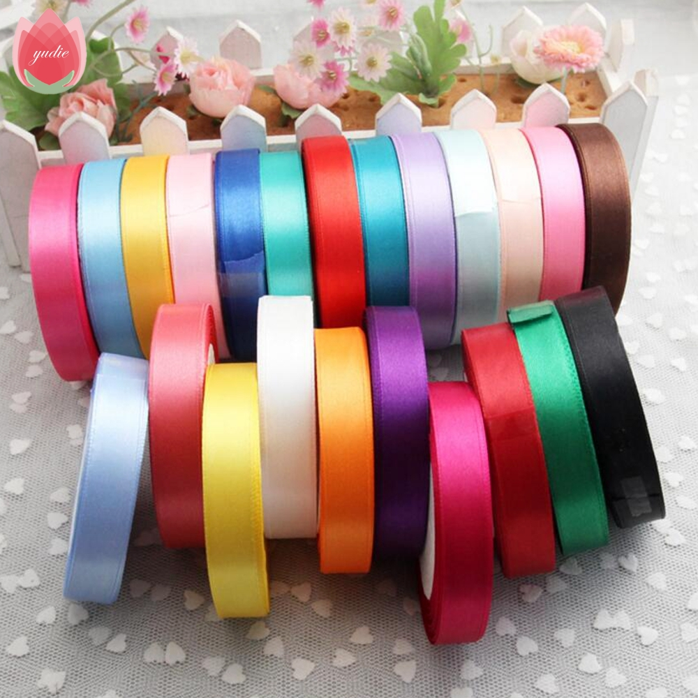 2017 Pretty 20mm 25 Yard Silk Satin Ribbon Wedding Wedding Decoration Invitation Card Նվերների փաթաթում Scrapbooking Supplies Riband