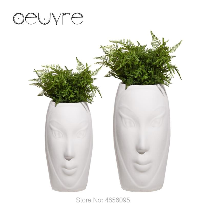 Oeuvre Creative Art Floor Large Flower Pot Modern Minimalist Vase Concave Surface Simulation Cement Planter Flower Pots Planters Aliexpress
