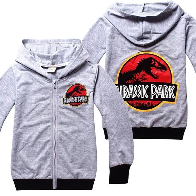 Hijos adolescentes Jurassk Parque Mundo Zipper Cardigan Jacket Chaquetas Bordadas Dinosaurio Dinosaurio Sudadera Con Capucha Para Niños Ropa Niños DC1035