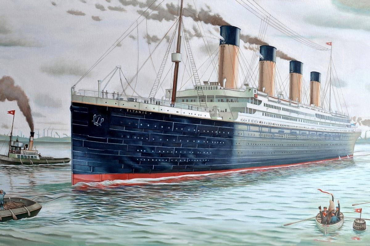 Schiff boot titanic malerei movie fantasie QX248 wohnzimmer ...