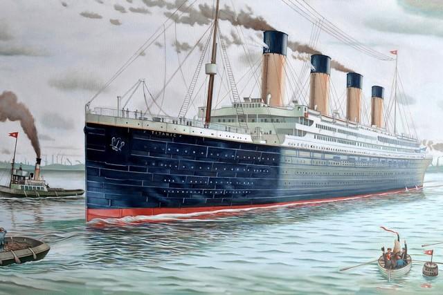 ship boat titanic painting movie fantasy QX248 living room home wall ...