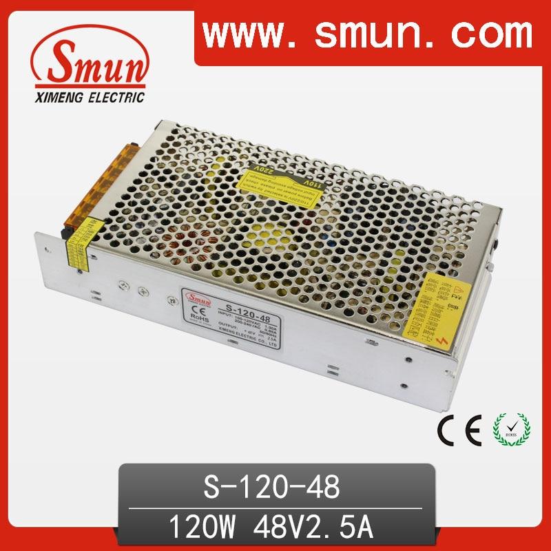 SMUN S-120-48 120W 48V DC Output Switching Power Supply AC/DC Single Output SMPS минипечь gefest пгэ 120 пгэ 120
