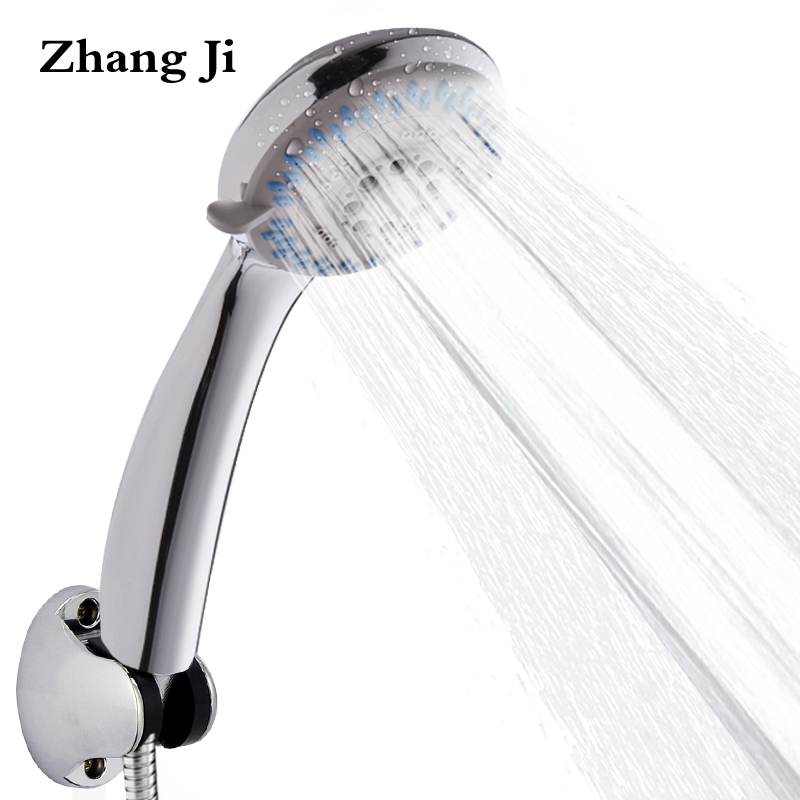 Zhang Ji Top Grade Bathroom Handheld Showerhead Watersaving ABS Shower Nozzle 3 Modes Adjustable Chrome-plated Shower Head ZJ040