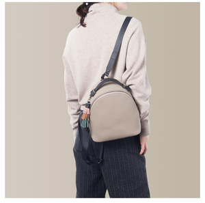 Image 2 - Leather Small Backpack Women 2020 New Female Soft Leather Cowhide Mini Backpack Luxury Fashion Small Bag Tassel Schoolbag Girl