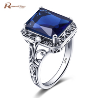 New Brand Victoria Wieck Rings For Women Vintage Created Aquamarine 925 Silver Fashion Creative Jewelry Ring