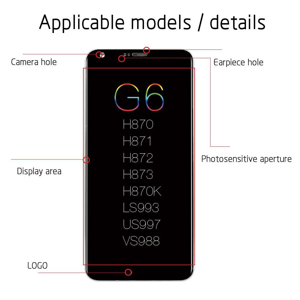 LCD d'origine pour LG G6 écran tactile avec cadre pour LG G6 LCD remplacement de l'affichage H870 H870DS H873 H872 LS993 VS998 US997 - 3