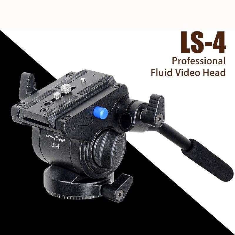 XILETU LS-4 Professional tripod head Photography Fluid Drag Hydraulic Tripod Head and Quick Release Plate For Manfrotto xiletu pa 44 tripod ball head and quick release plate interface 1 4