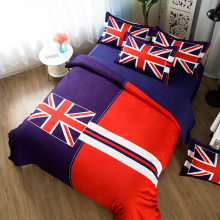 British Flag 3 Pieces Polyester Printing Bedding Sets Duvet Cover 3D Printing Beddings set CN USA UK AU Size(China)