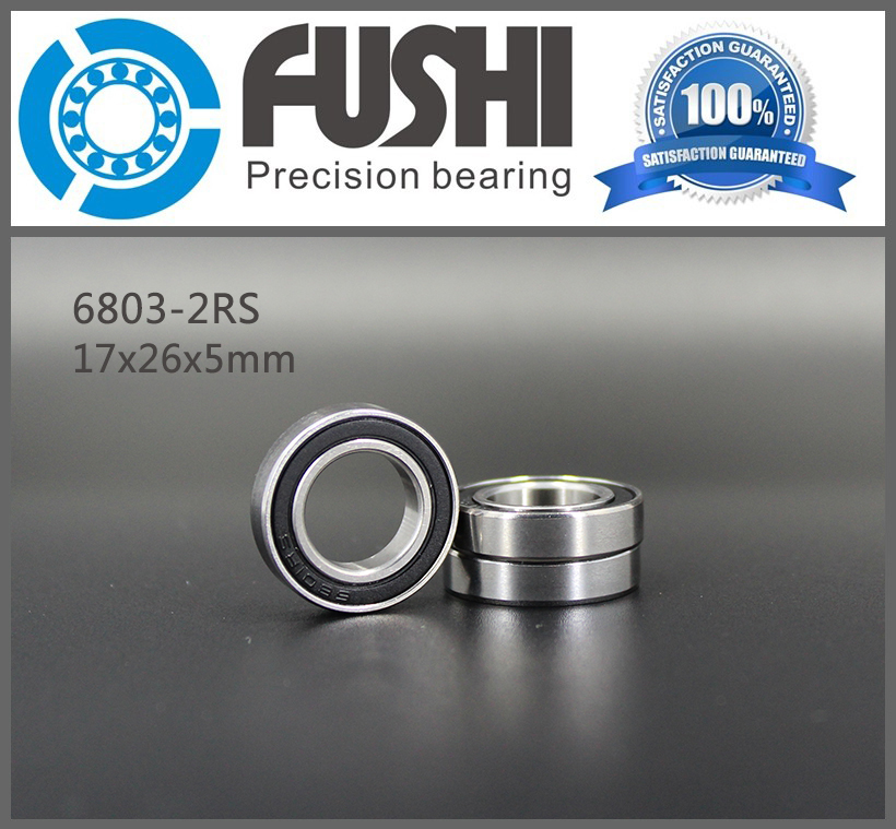 6803 2RS Bearing 17*26*5 mm ( 10 PCS ) ABEC-1 Metric Thin Section 61803RS 6803 RS Ball Bearings 6803RS 6819 2rs abec 1 95x120x13 metric thin section bearings 61819 rs 6819rs