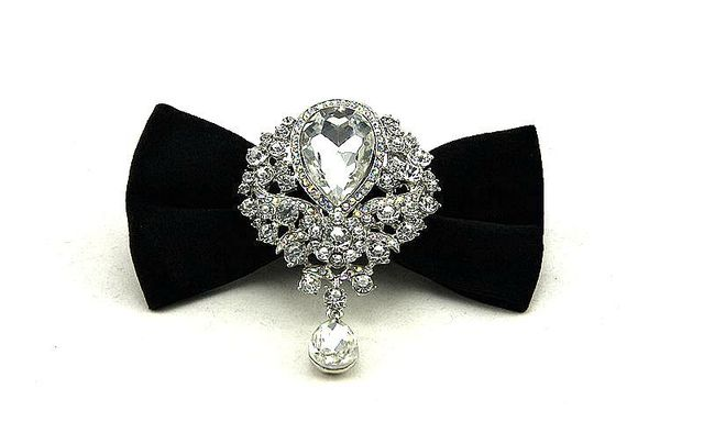 finest neckwear evening party wedding bow tie diamond butterfuly bowknot casual bowties boxed gift