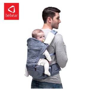 Image 3 - Bebear portador de bebê ax16 0 30 meses 4 em 1 infantil confortável estilingue mochila assento quadril envoltório do bebê portador ergonômico cinto de bebê