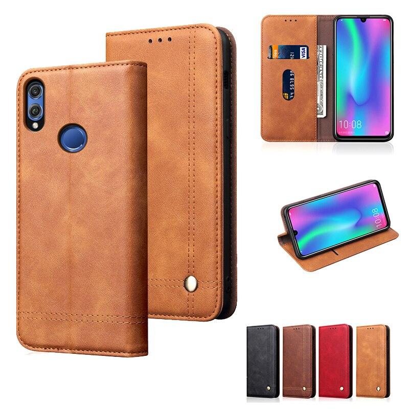Do Caso da aleta Para Huawei Honra 10 Lite Titular do Cartão Suporte de Carteira de Couro de Luxo Magnetic Livro Tampa Do Telefone Móvel Honor10 lite celular