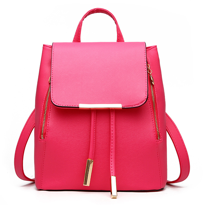 Women Leather Backpack Purse School Bags for Teenagers Girls 2016 New Fashion Soft PU Backpack Casual