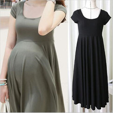 High Quality Summer Maternity Dresses Short Sleeve Black Grey Maternity Clothes For Pregnant Women Pregnancy Clothing