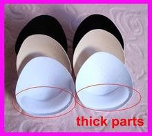 4 pairs/lot Women Removeable Bra Pads Push Up Round Triangle Swimsuit Bikini Sponge Foam Bra Pads Free Shipping