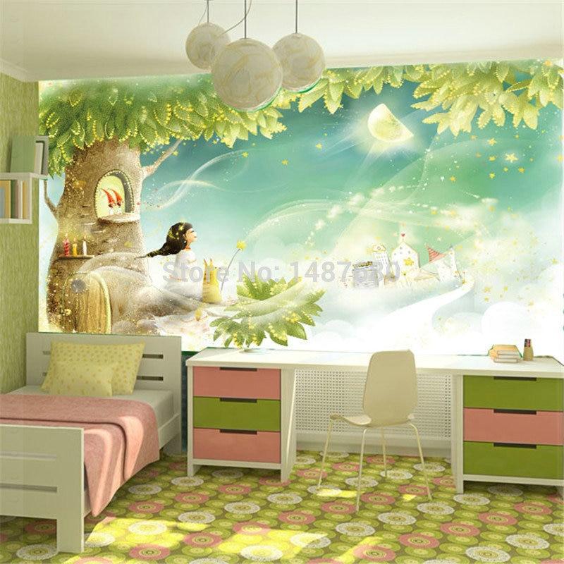 3d Wallpaper For Bedroom Wall India Children Room Dream Cartoon Background Custom Photo Wall