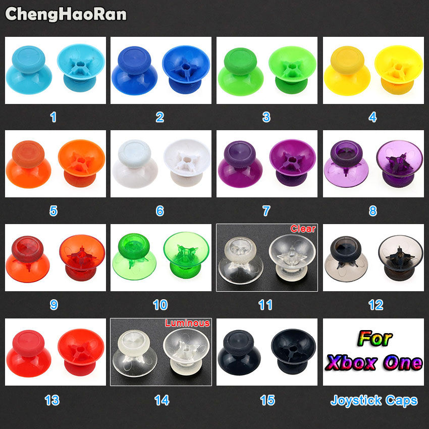 ChengHaoRan 2pcs Replacement Analog Joystick Cover 3D Thumbstick Cap For Xbox One Xboxone Controller