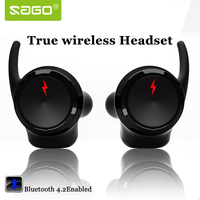 Sago Sport In Ear Earhphones Wireless Bluetooth4 2 Stereo Surround Sound Earbuds US 001 Noise Cancelling