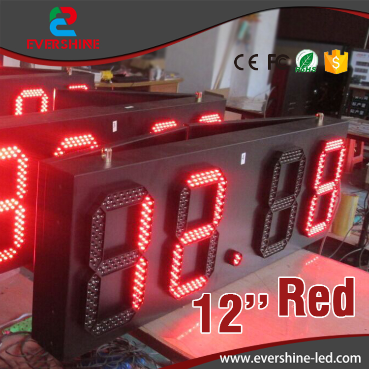 88:88 led time temperature sign/ led gas station display/ large outdoor digital clock temperature display 12 inch single red hd high quality led gas price display sign outdoor led billboard green color 12 outdoor led display screen