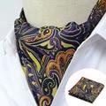 Ljt0118 lenço conjunto gravata dos homens orange floral do vintage lenços jacquard gravatas de seda gravata gravata gravata conjunto lenço de bolso quadrado