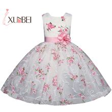 платье девушки цветка; цветок платье с длинным; платье розовый; причастие платья первое;