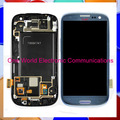 100Pcs test 1 by 1 Original For Samsung Galaxy S3 i9300 i9305 i747 T999 Display LCD Touch Screen Digitizer Assembly With Frame