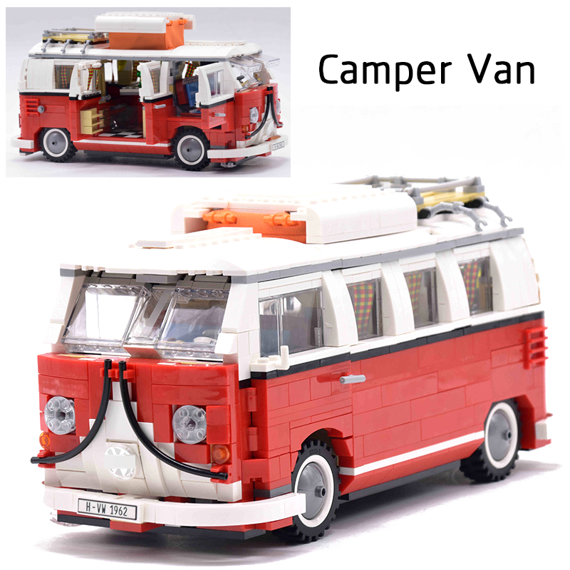 LEPIN Technic Creator 21001 Volkswagen T1 Camper Van Caterham Classic Racing Car legoing Model Building Blocks Bricks 21307 Toys