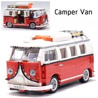 LEPIN Technic Creator 21001 Volkswagen T1 Camper Van Caterham Classic Racing Car legoing Model Building Blocks Bricks 21307 Toys