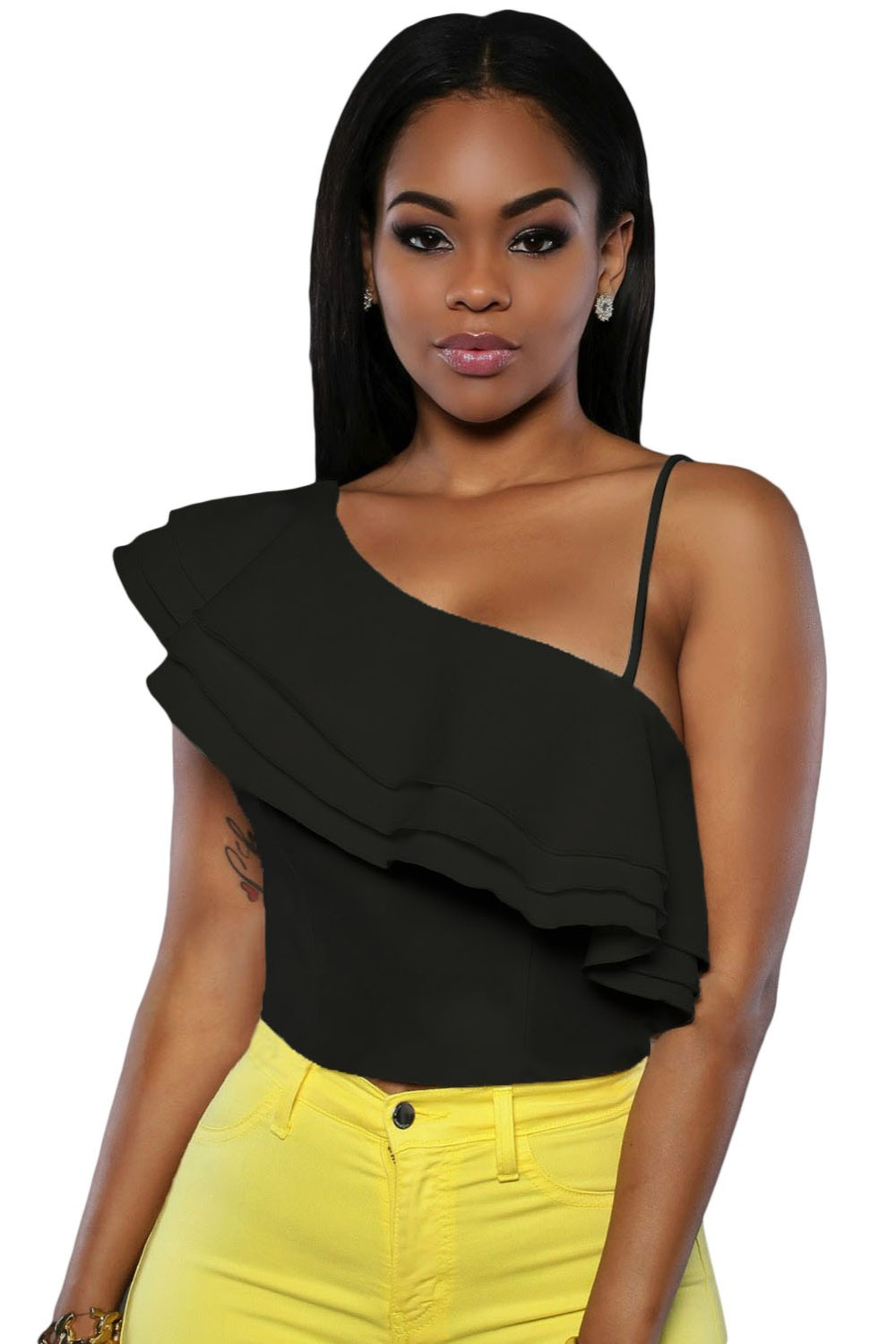 Black-Ruffle-Luxe-Crop-Top-LC25786-2-1