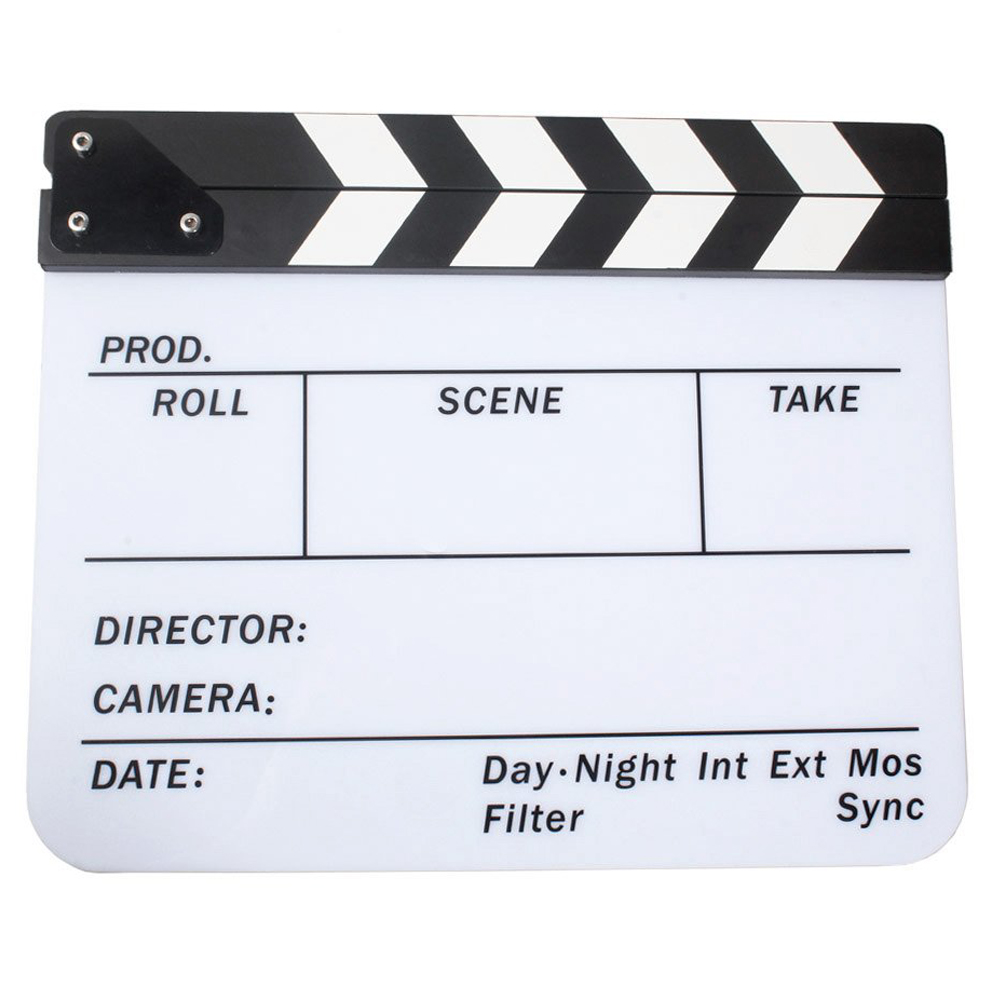 EDT-Acrylic Clapboard Dry Erase Movie Clapper Board Slate 29.8 * 24.5cm zhidian 32 24soft magnetic whiteboard dry erase board white wall back without glue don t damage metope t 0 3mm