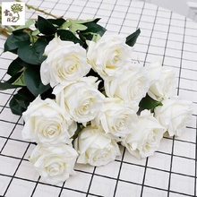 Valentine's Day Gifts Simulation Roses Fake Roses Living Room Decoration Fleece Red Rose Simulation Bouquet LIN TING HAN no red roses