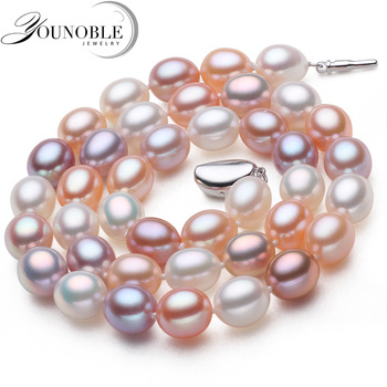 Genuine freshwater pearl necklace pendan...