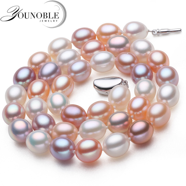 Genuine freshwater pearl necklace pendant jewelry,real wedding pearl necklaces f